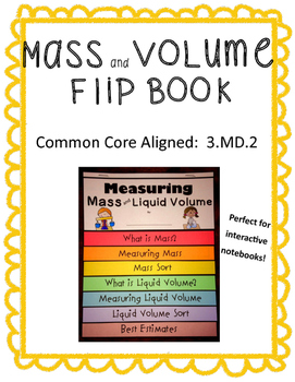 Mass and Volume Flip Book