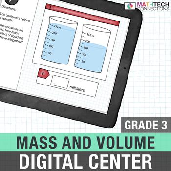Mass and Volume - Paperless Digital Math Center - Power Point and Google Version