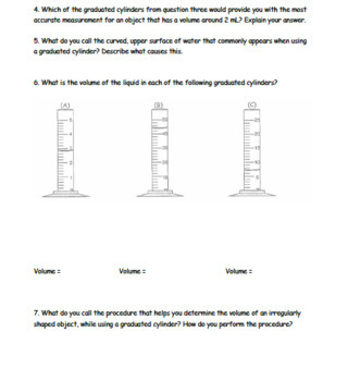 Mass and Volume Practice Packet