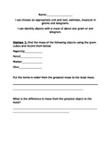 Mass and Volume Stations Packet: Envisions Aligned