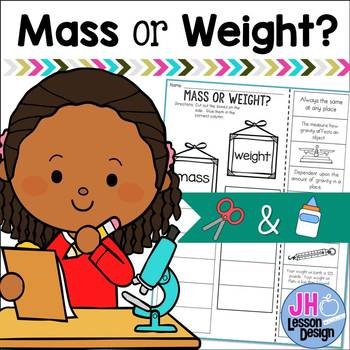 Mass or Weight? Cut and Paste Sorting Activity