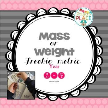Mass or Weight Freebie - Metric