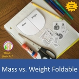 Mass vs. Weight Foldable