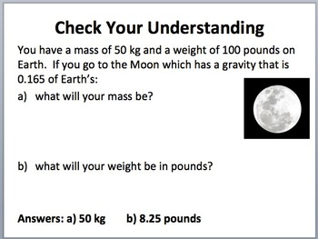 Mass vs Weight - a lesson to clarify these concepts