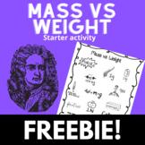 Mass vs weight starter