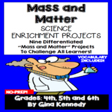 Mass & Matter Enrichment Projects, Vocabulary Handout