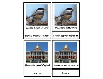 Massachusetts 3 Part Cards