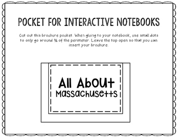 Massachusetts - State Research Project - Interactive Notebook - Mini Book