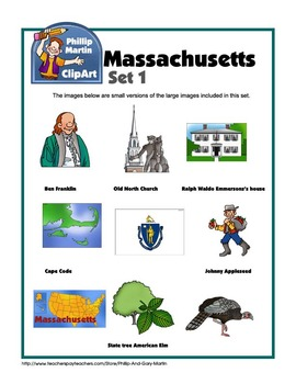 Massachusetts Clip Art Set 1