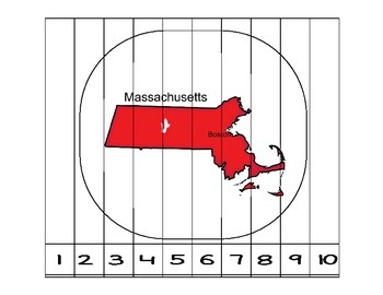 Massachusetts Counting to 10 Puzzle