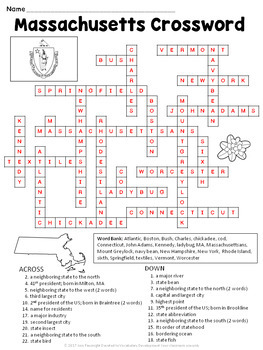 Massachusetts Crossword Puzzle