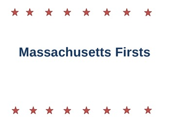"Massachusetts ""Firsts"""