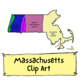Massachusetts Geographic Regions Clip Art (Commercial Use)