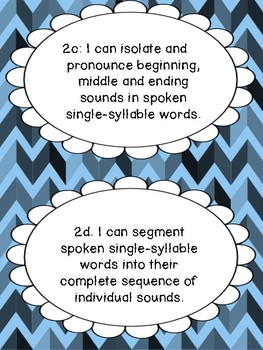 Massachusetts Grade 1 ELA Learning Target I Can Statements and Checklists