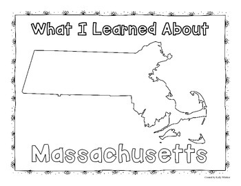 Massachusetts Graphic Organizers (Perfect for KWL charts and geography!)
