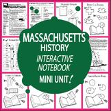 Massachusetts History Unit + AUDIO – Interactive Massachusetts State Study