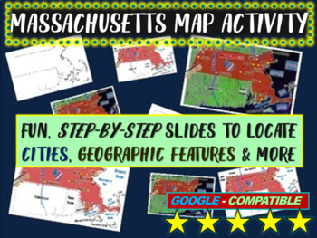 Massachusetts Map Activity- fun, engaging, follow-along 15