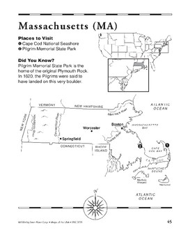 Massachusetts (Map & Facts)