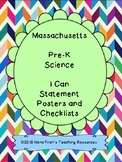 Massachusetts Pre-K Science Learning Target I Can Statements
