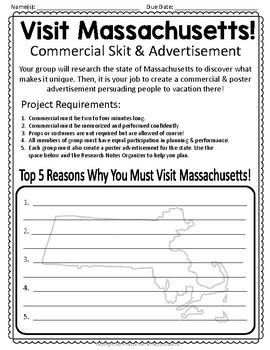 Massachusetts Project: Commercial & Poster {Massachusetts Research Activity}