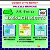 Massachusetts Puzzle BUNDLE - Word Search & Crossword - U.S States - Google