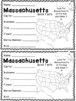 Math about Massachusetts State Symbols through Multiplication Practice