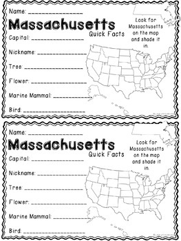 Math about Massachusetts State Symbols through Multiplication Practice