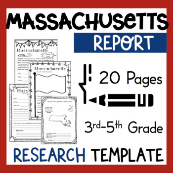 Massachusetts State Research Report Project Template  bonus timeline Craftivity