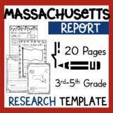 Massachusetts State Research Report Project Template  bonus timeline Craftivity