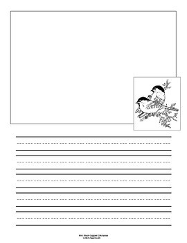 Massachusetts State Bird Notebooking Set (Black-Capped Chickadee)
