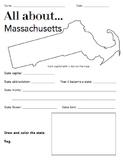 Massachusetts State Facts Worksheet: Elementary Version
