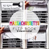Massachusetts State Flipbook Interactive Activity for Social Studies