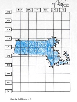 Massachusetts State Latitude and Longitude Coordinates Puzzle - 42 Pts. to Plot