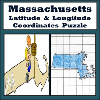 Massachusetts State Latitude and Longitude Coordinates Puz