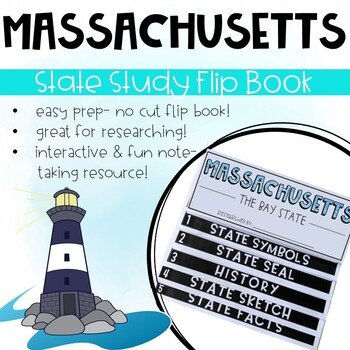 Massachusetts State Study Activity Flip Book/ Note Taking Pages