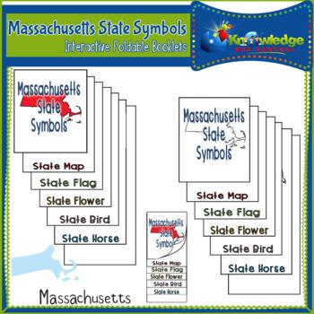 Massachusetts State Symbols Interactive Foldable Booklets