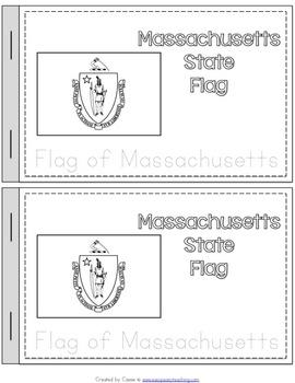 Massachusetts State Symbols Notebook