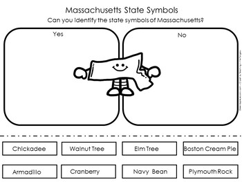 Massachusetts State Symbols Worksheet
