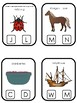 Massachusetts State Symbols themed Beginning Sounds Clip It Game. Preschool Game