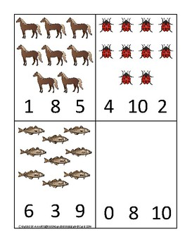 Massachusetts State Symbols themed Count and Clip Game. Preschool Game