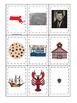 Massachusetts themed Memory Matching and Word Matching preschool curriculum game