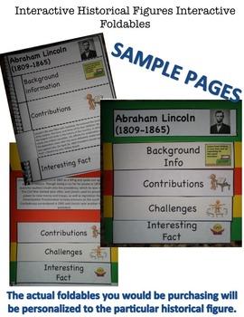 Massasoit Interactive Historical Figure Foldable