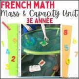 Masse et capacité - 2e année