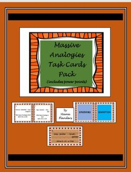Massive Analogies Task Cards Pack (includes Power Points)