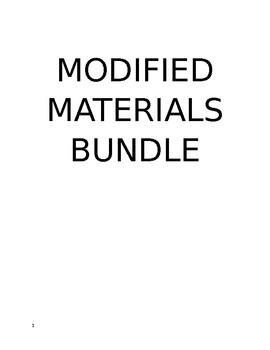 Speech therapy -Modified Lessons & Assessments-Part 2 bundle (half price)