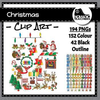Massive Christmas Clip Art Collection - 194 total images