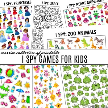 Massive Collection of Printable I Spy Games