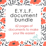 Big EYLF (Early Years Learning Framework) prof. document bundle ~ 62 pages