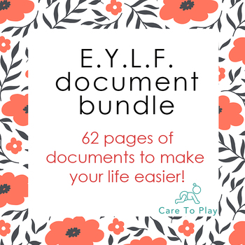 Bundle: Basic E.Y.L.F. (Early Years Learning Framework)  - 62 pages