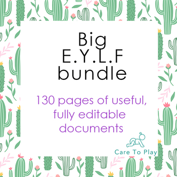 Bundle: Big E.Y.L.F. (Early Years Learning Framework) - 130 pages